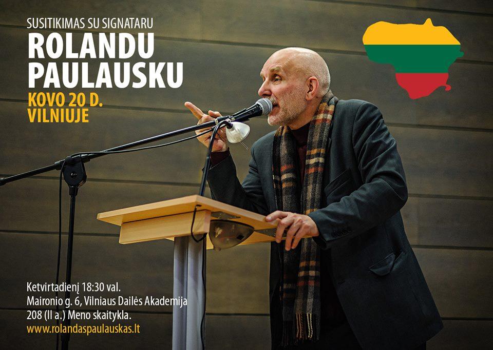 Susitikimas su Rolandu Paulausku Vilniuje