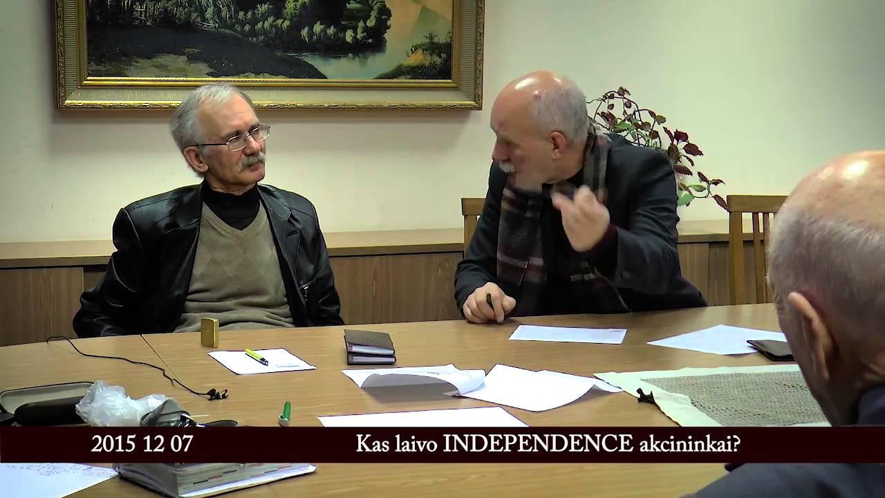 Kas laivo Independence akcininkai?