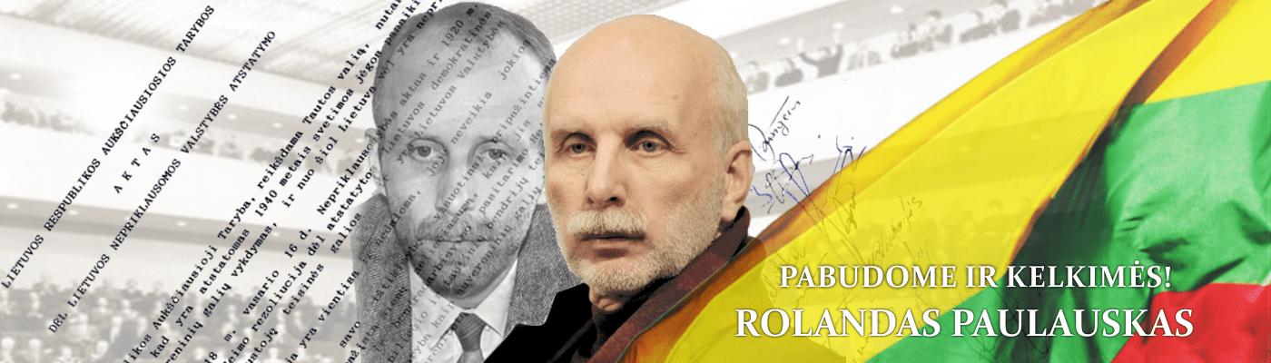 Signataras Rolandas Paulauskas