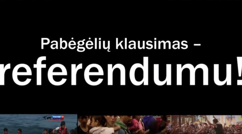 Pabėgėlių klausimas – referendumu! (video)