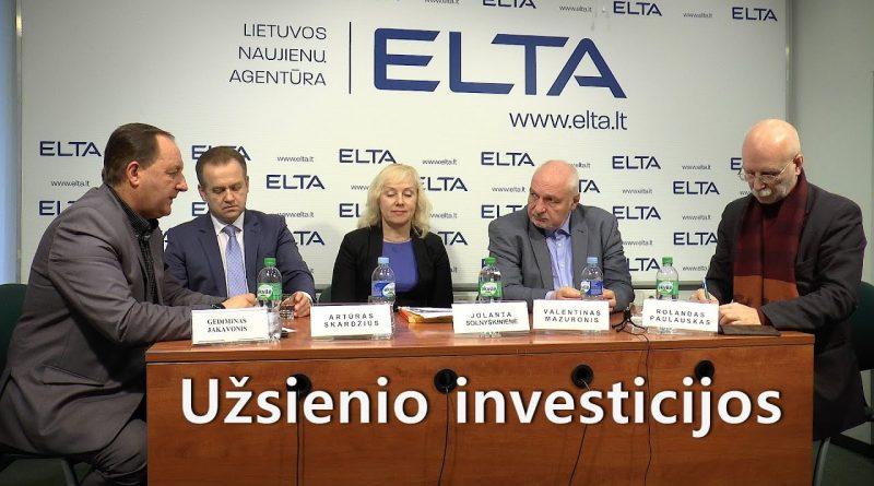 Diskusija apie užsienio investicijas. Elta 2016 12 20