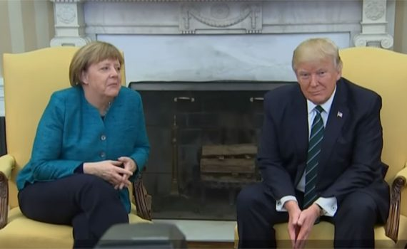 Apie ką kalbėjosi A.Merkel ir D.Trampas?