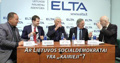 """Ar Lietuvos socialdemokratai yra """"kairieji"""". Elta"""